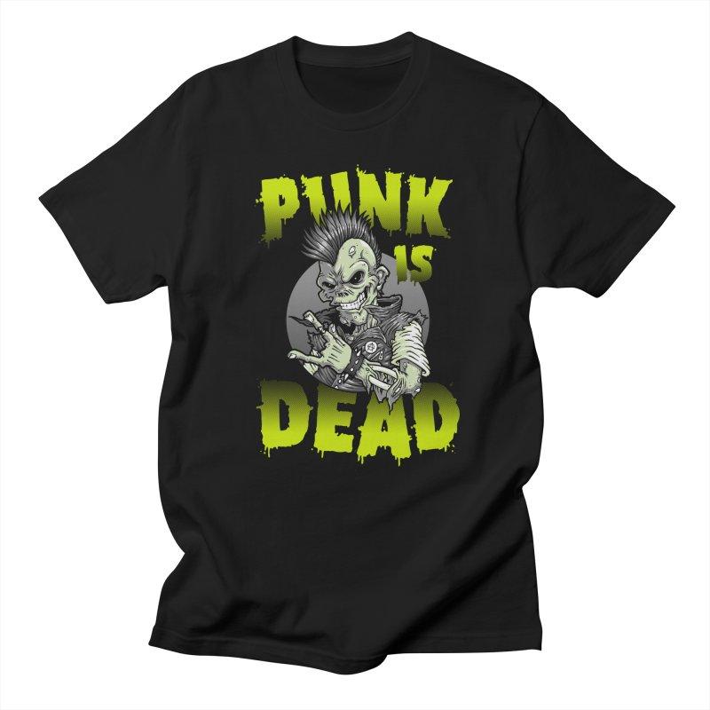 Punk Is Dead Men's T-shirt by chumpmagic's Artist Shop