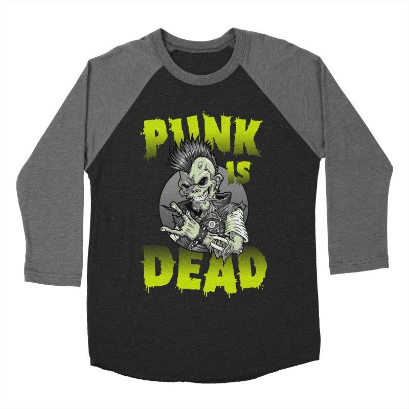 Punk Is Dead Women's Baseball Triblend T-Shirt by chumpmagic's Artist Shop