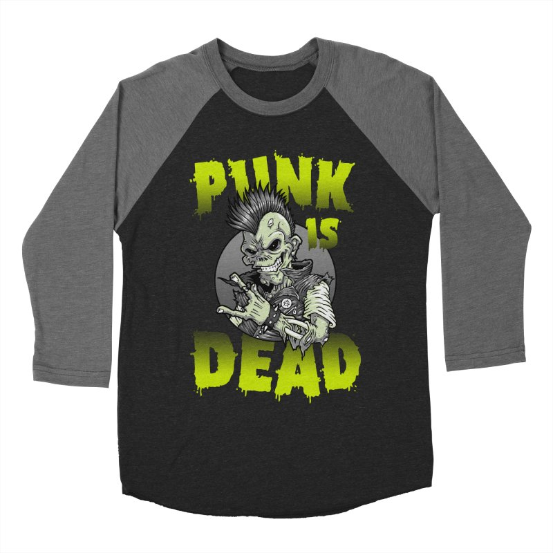 Punk Is Dead Men's Baseball Triblend T-Shirt by chumpmagic's Artist Shop