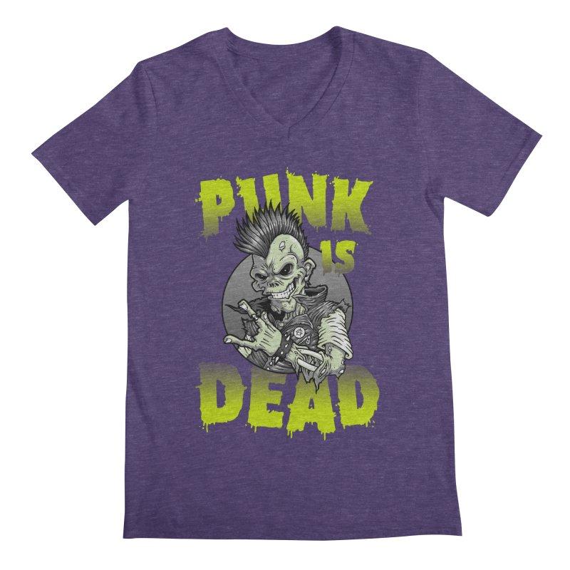 Punk Is Dead Men's V-Neck by chumpmagic's Artist Shop