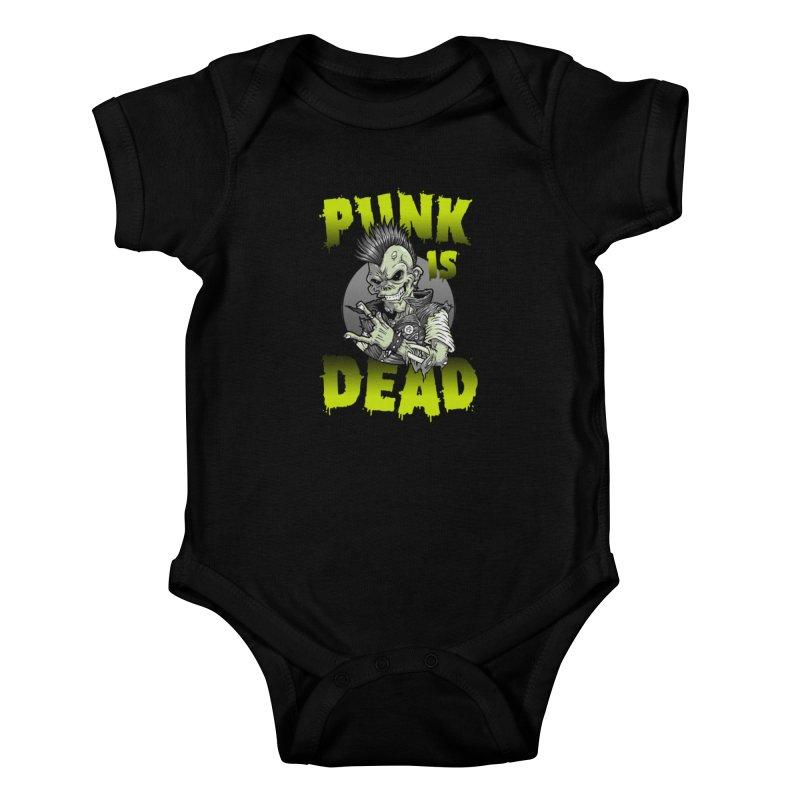 Punk Is Dead Kids Baby Bodysuit by chumpmagic's Artist Shop