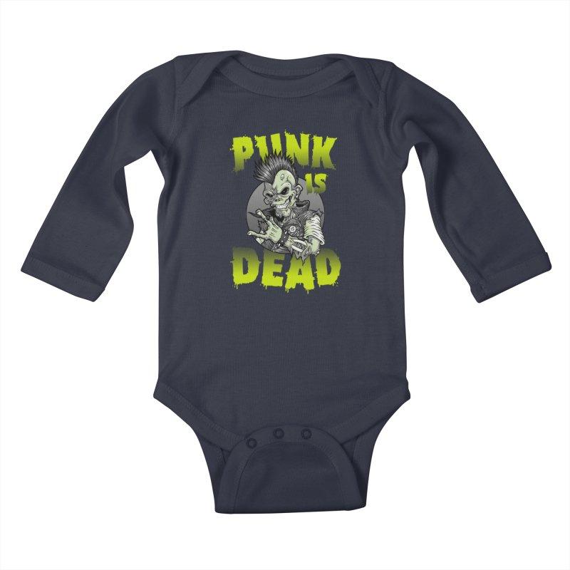 Punk Is Dead Kids Baby Longsleeve Bodysuit by chumpmagic's Artist Shop