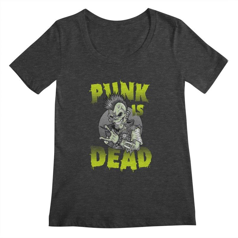 Punk Is Dead Women's Scoopneck by chumpmagic's Artist Shop