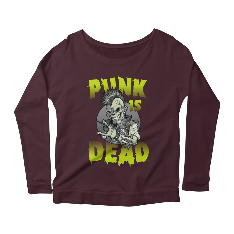 Punk Is Dead Women's Longsleeve Scoopneck  by chumpmagic's Artist Shop