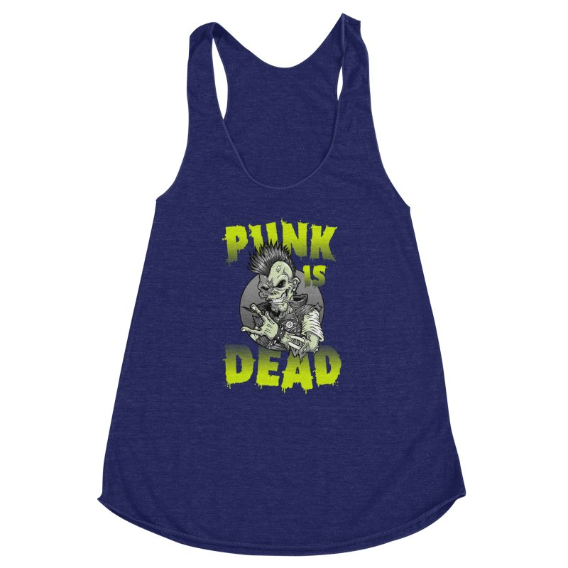 Punk Is Dead Women's Racerback Triblend Tank by chumpmagic's Artist Shop