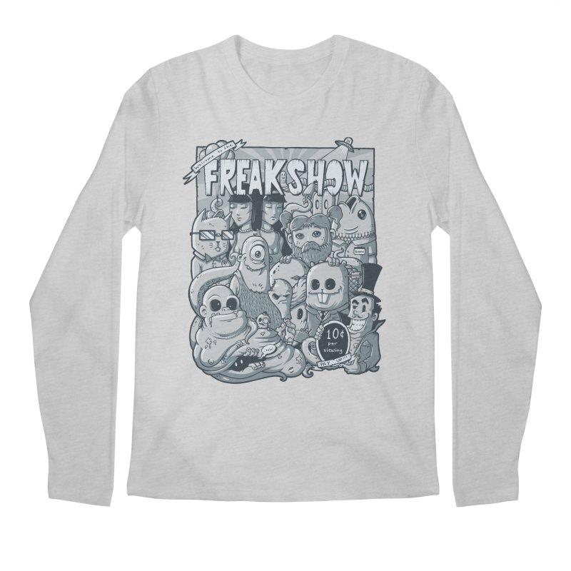 The Freak Show (10 cent per viewing) Men's Longsleeve T-Shirt by chumpmagic's Artist Shop