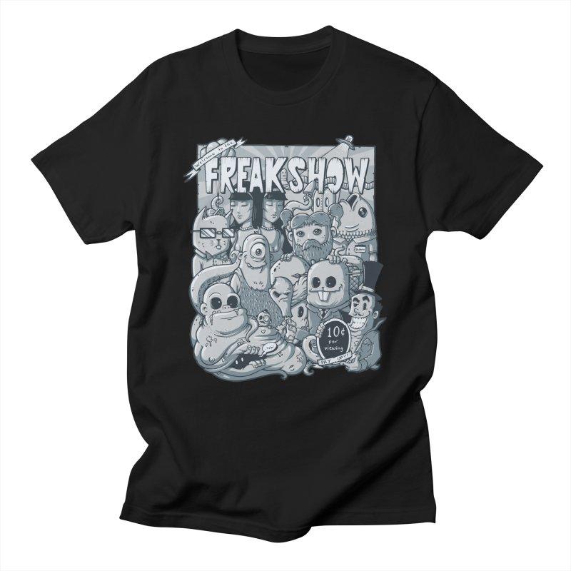 The Freak Show (10 cent per viewing) Men's T-shirt by chumpmagic's Artist Shop