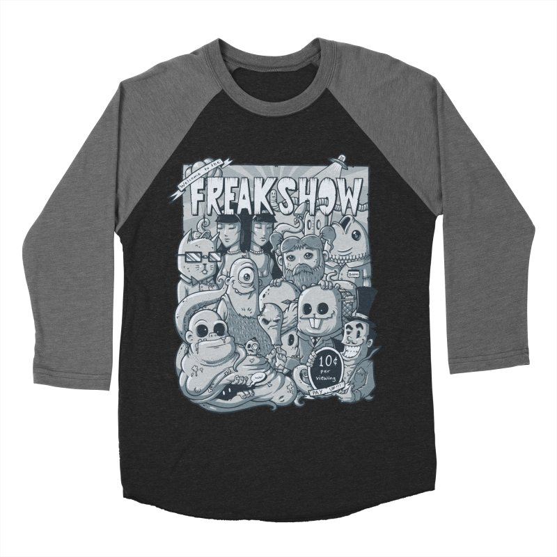 The Freak Show (10 cent per viewing) Men's Baseball Triblend T-Shirt by chumpmagic's Artist Shop