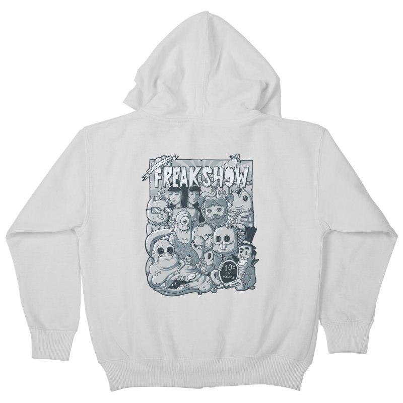 The Freak Show (10 cent per viewing) Kids Zip-Up Hoody by chumpmagic's Artist Shop