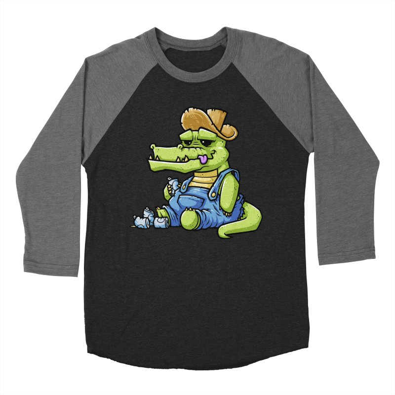 Ale-Gator Women's Baseball Triblend T-Shirt by chumpmagic's Artist Shop