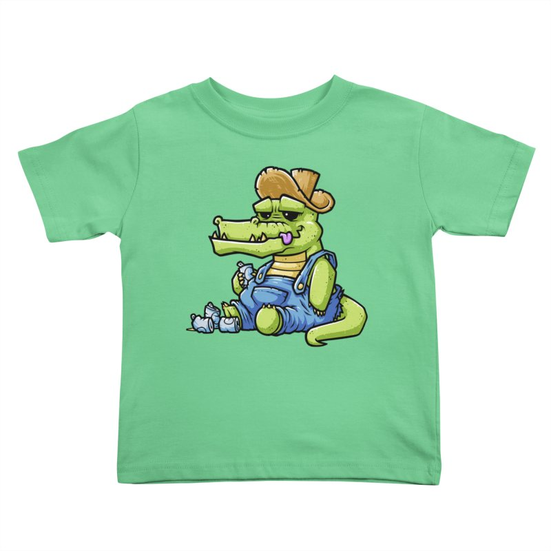 Ale-Gator Kids Toddler T-Shirt by chumpmagic's Artist Shop