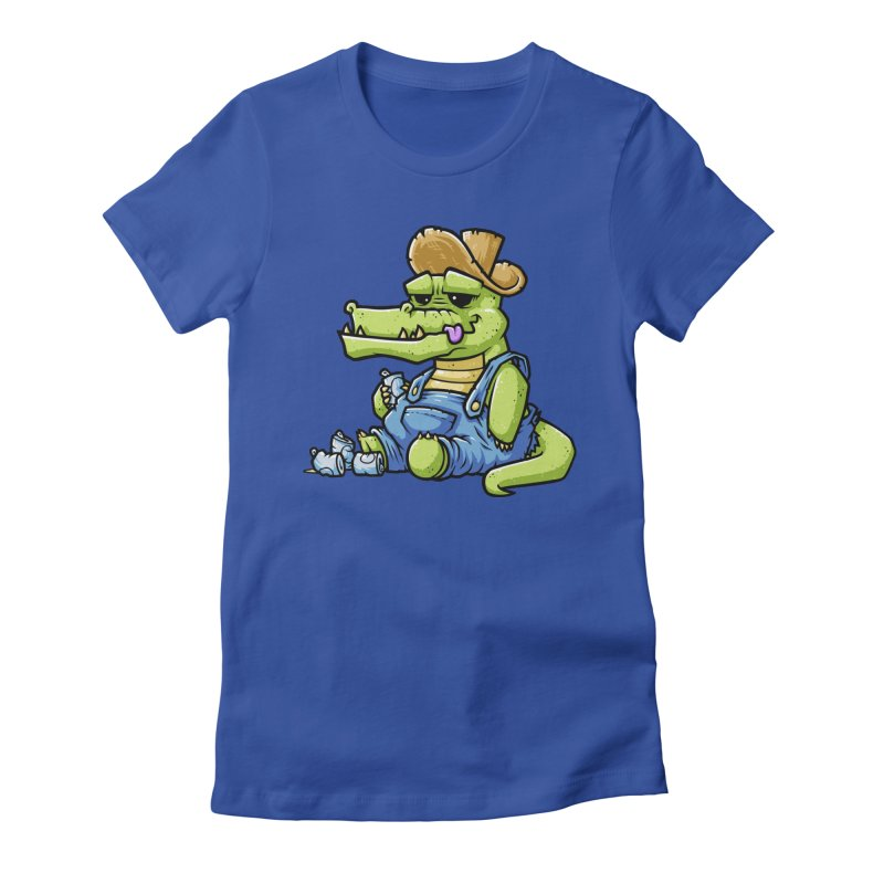 Ale-Gator Women's Fitted T-Shirt by chumpmagic's Artist Shop