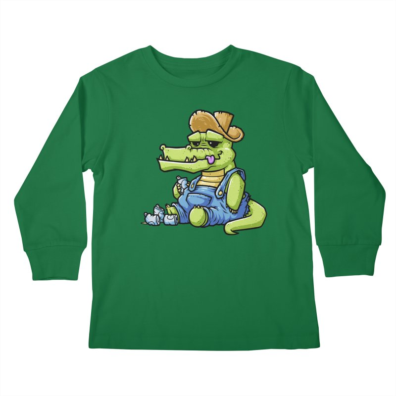 Ale-Gator Kids Longsleeve T-Shirt by chumpmagic's Artist Shop