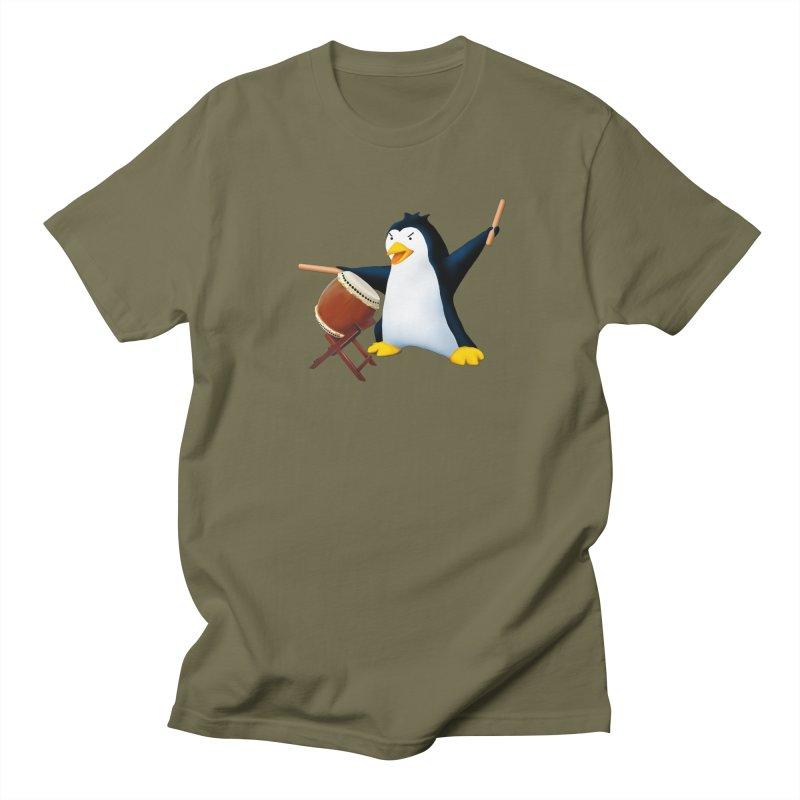 Taiko Penguin (Naname) Men's Regular T-Shirt by Chung's Musical Penguins