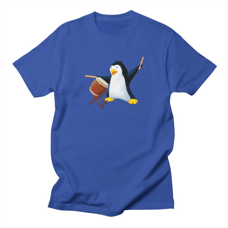 Taiko Penguin (Naname) Men's Regular T-Shirt by Chung's Musical Penguins