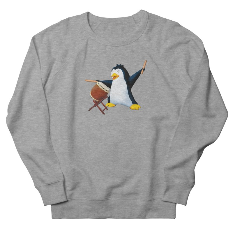 Taiko Penguin (Naname) Women's French Terry Sweatshirt by Chung's Musical Penguins