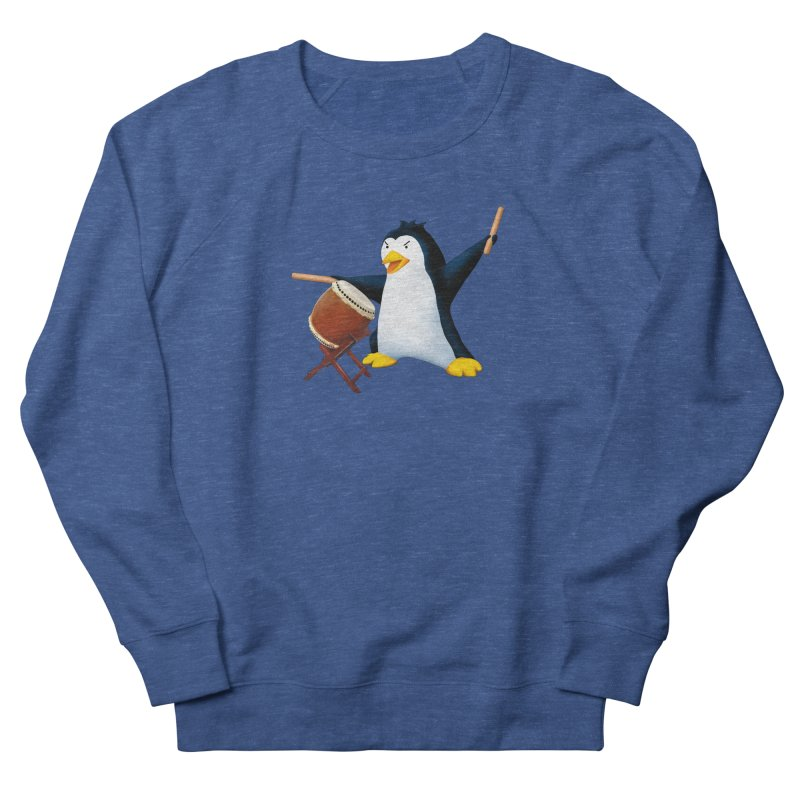 Taiko Penguin (Naname) Men's French Terry Sweatshirt by Chung's Musical Penguins