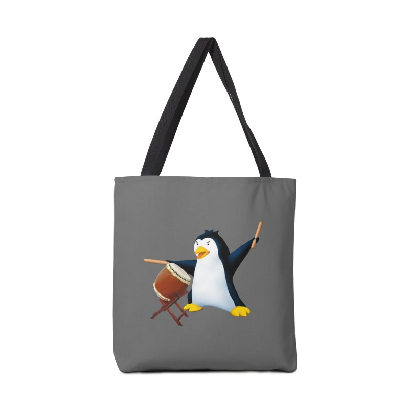 Taiko Penguin (Naname) Accessories Tote Bag Bag by Chung's Musical Penguins