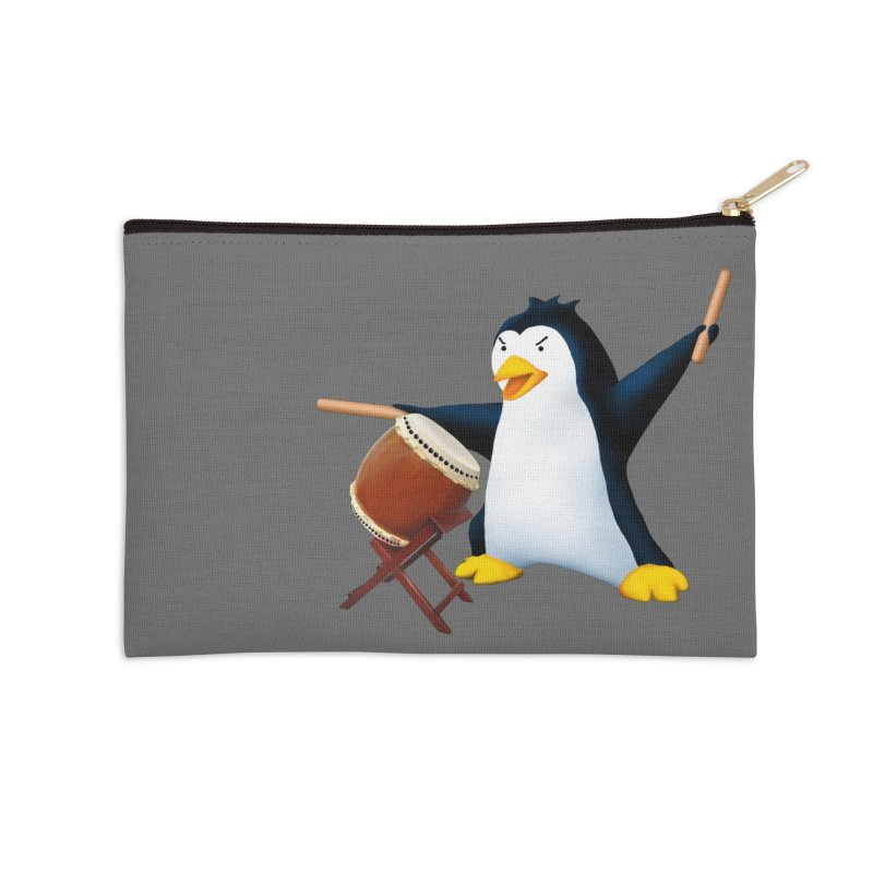 Taiko Penguin (Naname) Accessories Zip Pouch by Chung's Musical Penguins