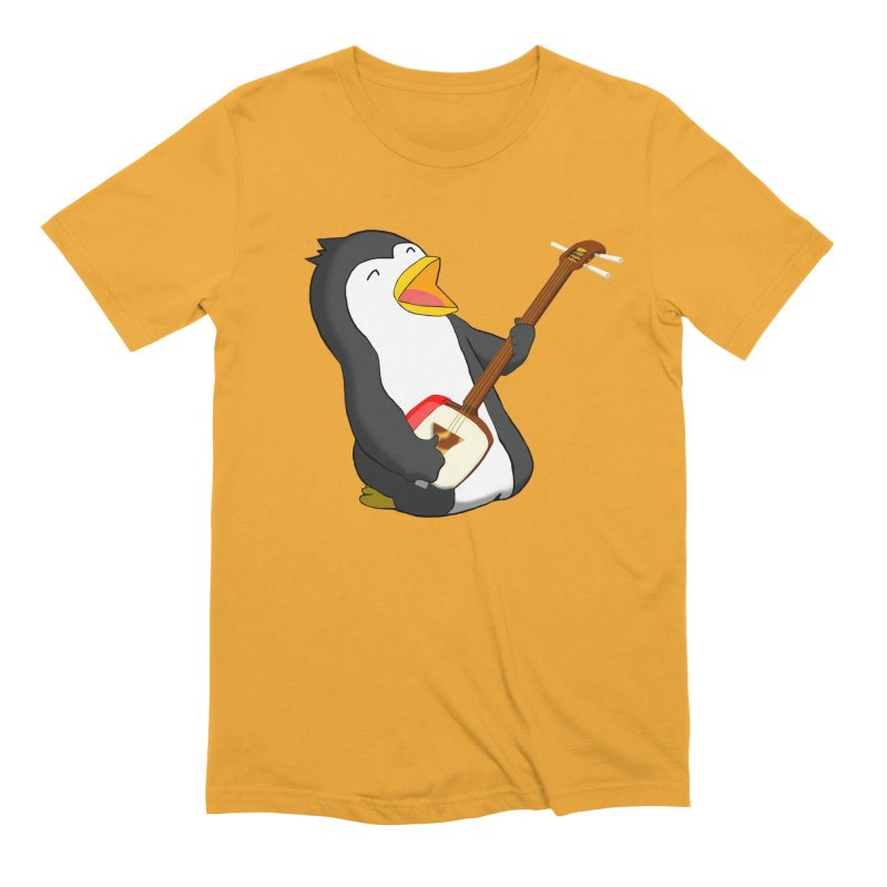 Shamisen Penguin Men's Extra Soft T-Shirt by Chung's Musical Penguins