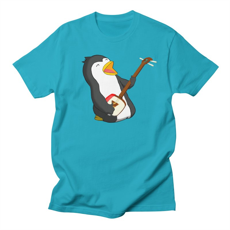 Shamisen Penguin Men's Regular T-Shirt by Chung's Musical Penguins