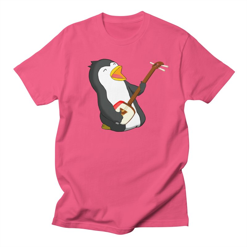 Shamisen Penguin Men's Regular T-Shirt by Chung's Musical Penguins