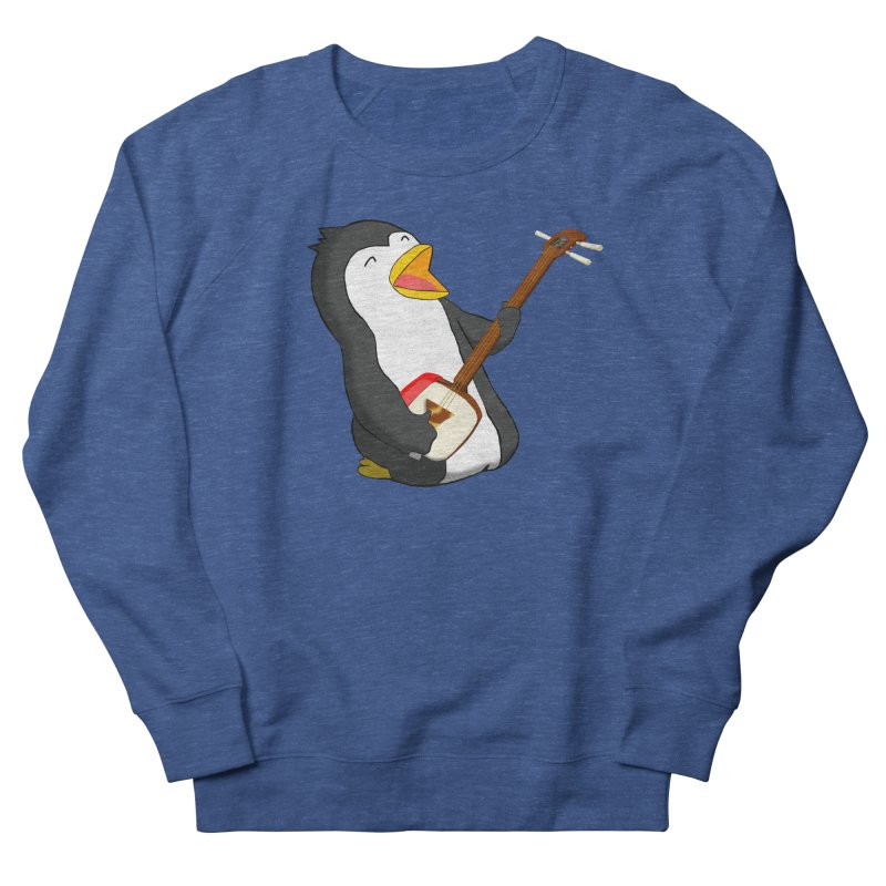 Shamisen Penguin Women's French Terry Sweatshirt by Chung's Musical Penguins