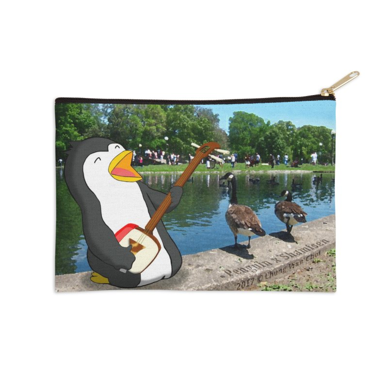 Shamisen Penguin Accessories Zip Pouch by Chung's Musical Penguins