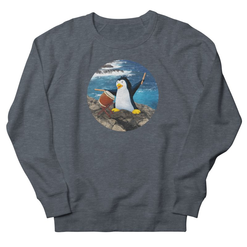 Taiko Penguin (Naname) Ocean ver. Men's French Terry Sweatshirt by Chung's Musical Penguins