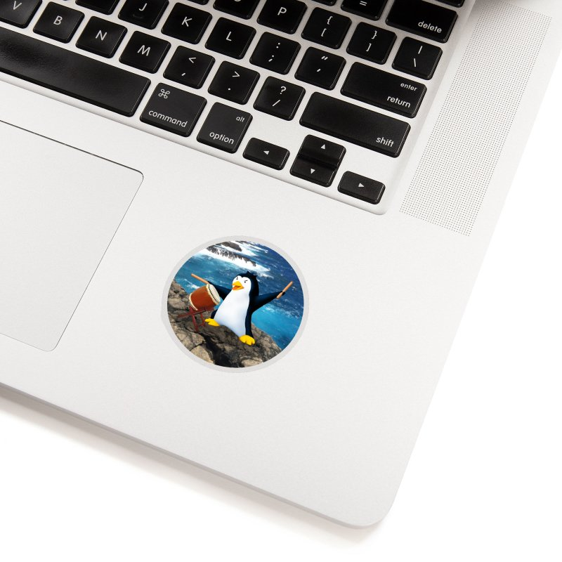 Taiko Penguin (Naname) Ocean ver. Accessories Sticker by Chung's Musical Penguins