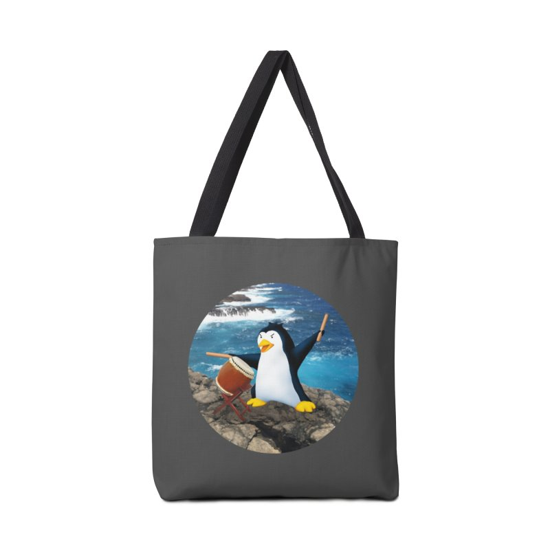 Taiko Penguin (Naname) Ocean ver. Accessories Tote Bag Bag by Chung's Musical Penguins