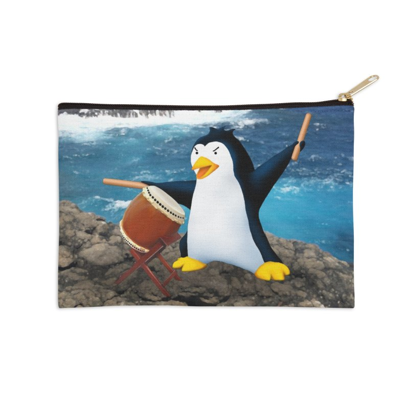 Taiko Penguin (Naname) Ocean ver. Accessories Zip Pouch by Chung's Musical Penguins