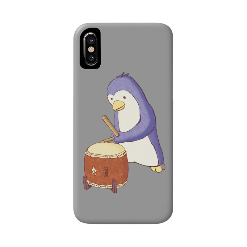 Taiko Penguin (Beta) Accessories Phone Case by Chung's Musical Penguins