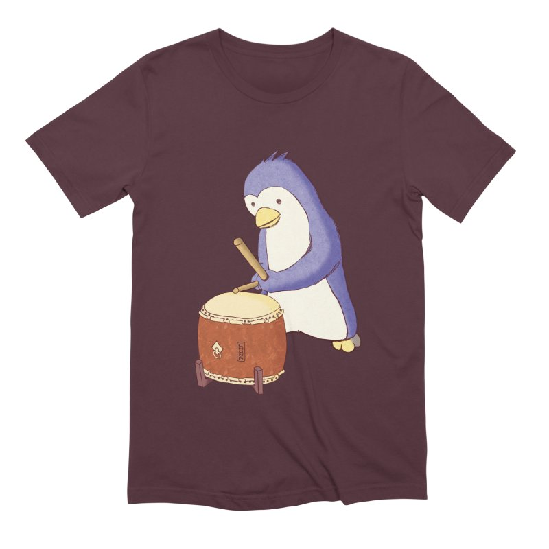 Taiko Penguin (Beta) Men's Extra Soft T-Shirt by Chung's Musical Penguins