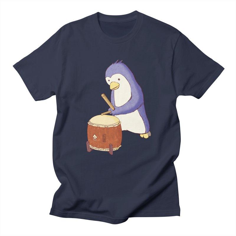 Taiko Penguin (Beta) Men's Regular T-Shirt by Chung's Musical Penguins