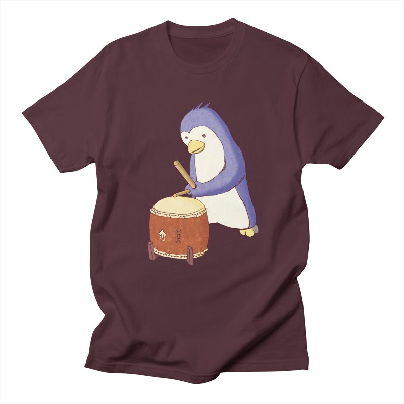 Taiko Penguin (Beta) Men's Regular T-Shirt by Chung's Musical Penguins