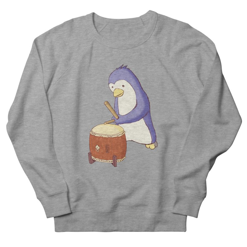 Taiko Penguin (Beta) Women's French Terry Sweatshirt by Chung's Musical Penguins