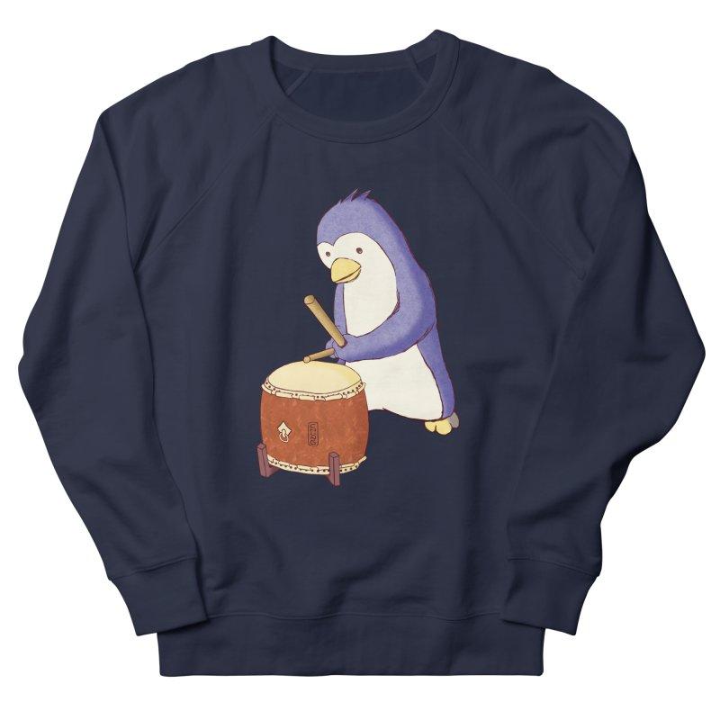 Taiko Penguin (Beta) Women's French Terry Sweatshirt by Chung's Musical Penguins