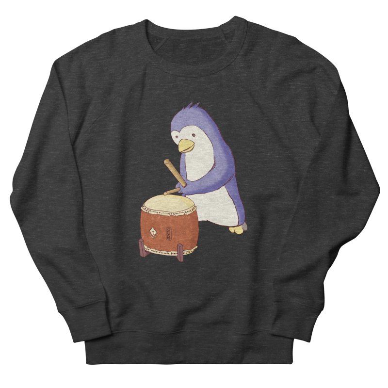 Taiko Penguin (Beta) Men's French Terry Sweatshirt by Chung's Musical Penguins