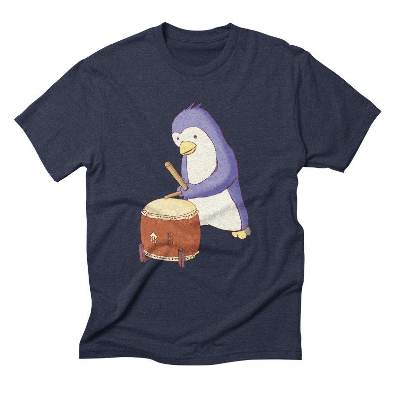 Taiko Penguin (Beta) Men's Triblend T-Shirt by Chung's Musical Penguins