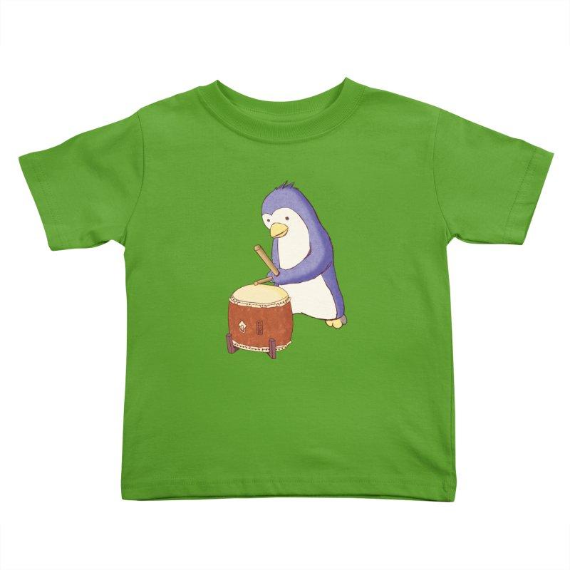 Taiko Penguin (Beta) Kids Toddler T-Shirt by Chung's Musical Penguins