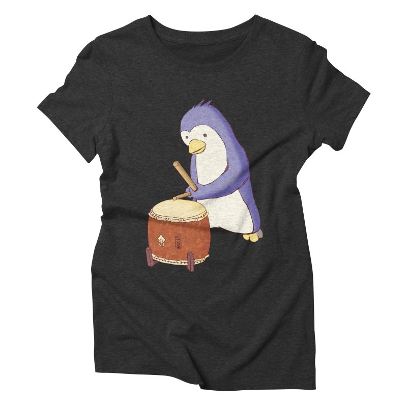 Taiko Penguin (Beta) Women's Triblend T-Shirt by Chung's Musical Penguins