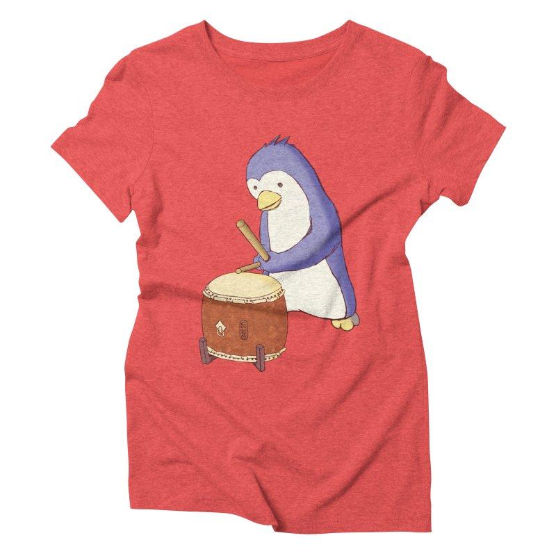 Taiko Penguin (Beta) Women's Triblend T-Shirt by Chung's Musical Penguins