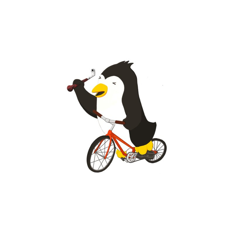 Cycling Penguin (w/ Piano Tuning Lever) Kids Toddler T-Shirt by Chung's Musical Penguins
