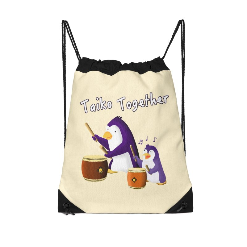 """Taiko Together"" Accessories Bag by Chung's Musical Penguins"