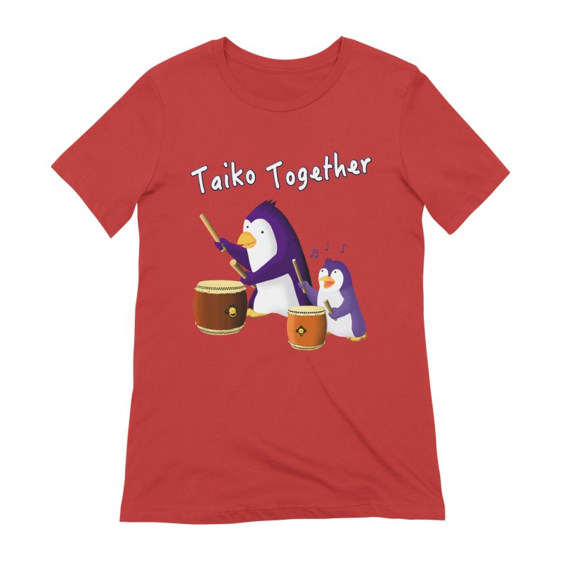"""""""Taiko Together"""" Women's Extra Soft T-Shirt by Chung's Musical Penguins"""
