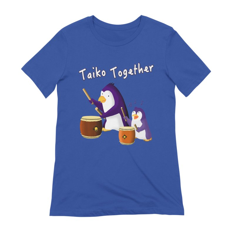 """Taiko Together"" Women's Extra Soft T-Shirt by Chung's Musical Penguins"
