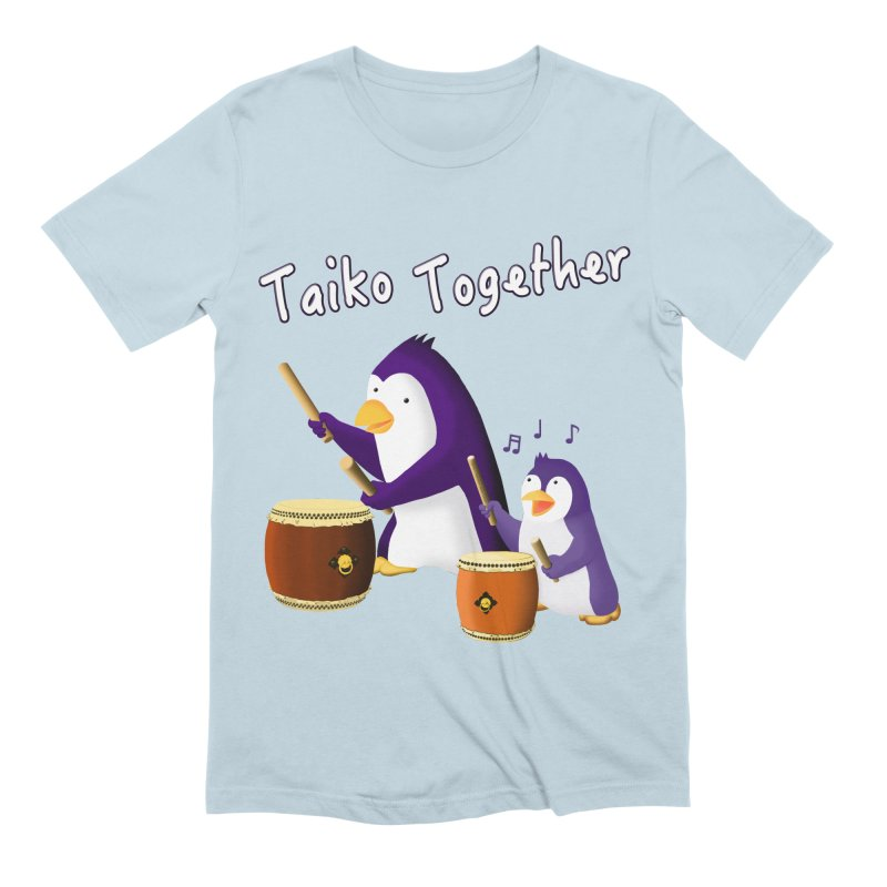 """""""Taiko Together"""" Men's Extra Soft T-Shirt by Chung's Musical Penguins"""