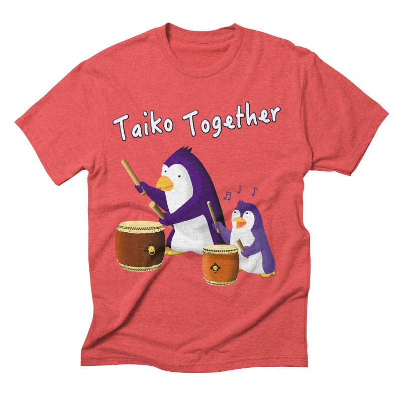 """""""Taiko Together"""" Men's Triblend T-Shirt by Chung's Musical Penguins"""