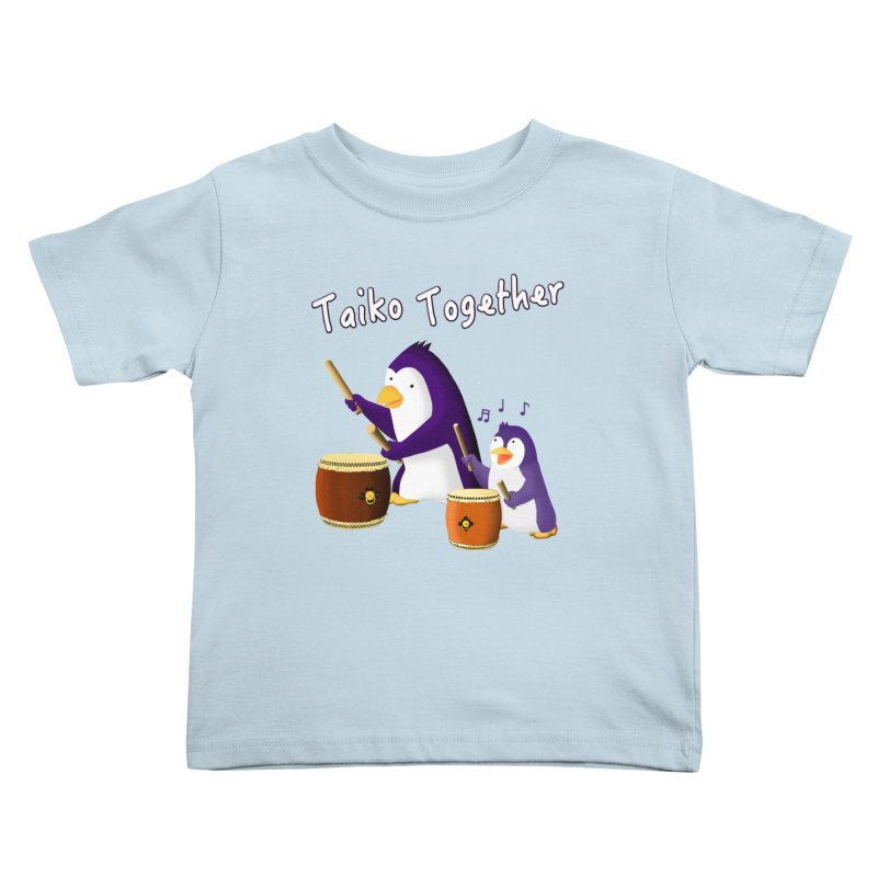 """""""Taiko Together"""" Kids Toddler T-Shirt by Chung's Musical Penguins"""